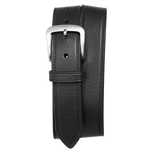 シャイノーラ メンズ ベルト アクセサリー Shinola Double Stitch Leather Belt Black