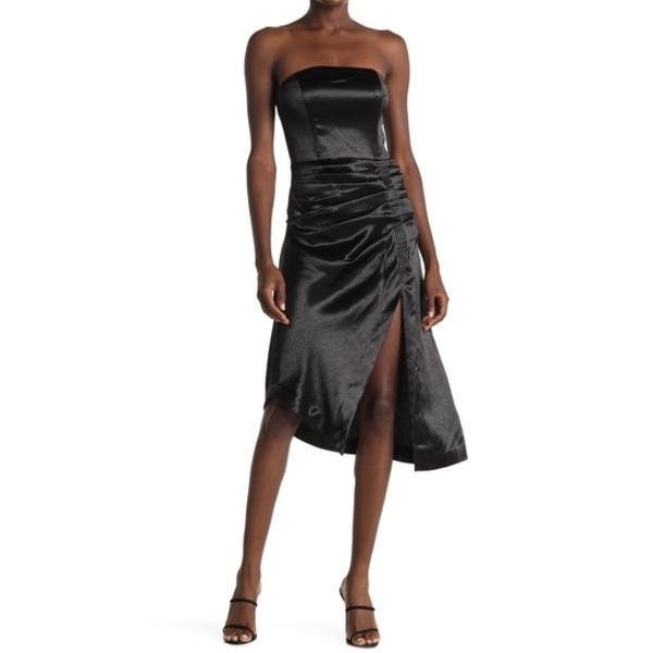 レイミー ブルック レディース ワンピース トップス Carmen Metallic Ruched Front Dress BLACK