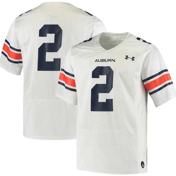 アンダーアーマー メンズ ユニフォーム トップス #2 Auburn Tigers Under Armour Logo Replica Football Jersey White