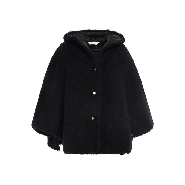 マッキントッシュ レディース ジャケット&ブルゾン アウター Wool-fleece hooded cape Black
