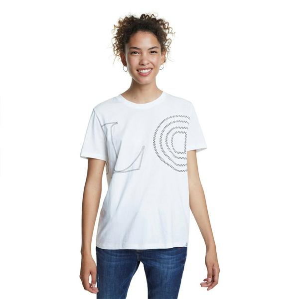 デジグアル レディース Tシャツ トップス Desigual Paris qmnx00e6