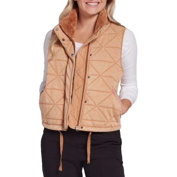 CALIA by Carrie Underwood 贈与 レディース アウター ジャケット ブルゾン カリア Women's GoldenTaffy 未使用 Cropped Vest 全商品無料サイズ交換