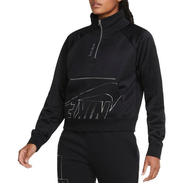 Nike レディース アウター パーカー スウェットシャツ Black 全商品無料サイズ交換 ナイキ Icon 1 4-Zip Sportswear Pullover 出群 Clash 買物 Fleece Women's