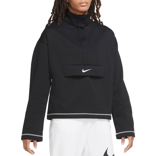 Nike レディース アウター パーカー スウェットシャツ Black 全商品無料サイズ交換 注文後の変更キャンセル返品 ナイキ Women's 2 Fleece Top セール開催中最短即日発送 Swoosh Sportswear Zip 1