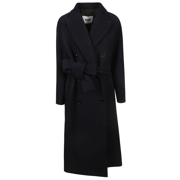エムエスジイエム レディース ジャケット&ブルゾン アウター MSGM Double Breasted Coat Blue