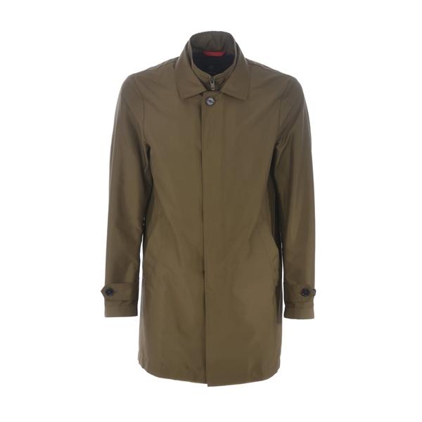 フェイ メンズ ジャケット&ブルゾン アウター Single-breasted Coat Verdemilitare