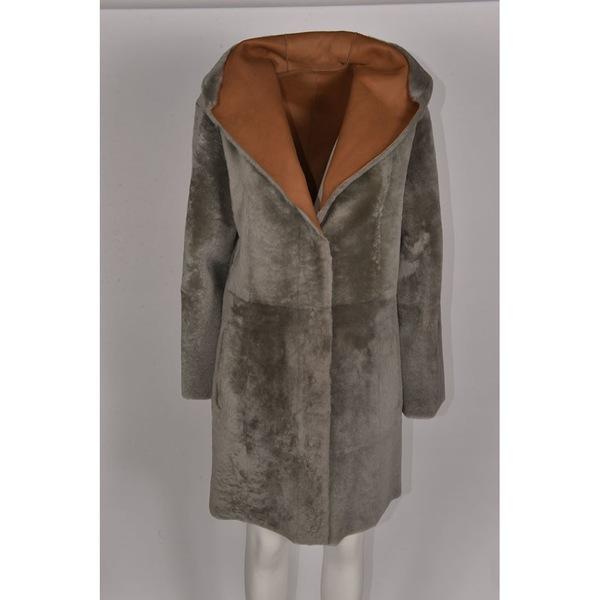 ドローミー レディース ジャケット&ブルゾン アウター DROMe Leather Jacket VerdeCuoio