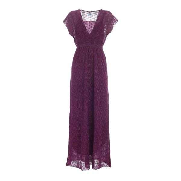 上品 エム ミッソーニ レディース ワンピース トップス M Missoni Glitter Embroidered V-Neck Maxi Dress -, 伊奈町 9415b4d9