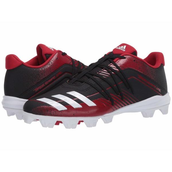 アディダス メンズ スニーカー シューズ Afterburner 6 MD Core Black/Footwear White/Power Red