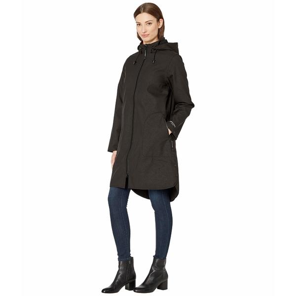 イルセヤコブセン レディース コート アウター Raincoat with Removable Hood Black