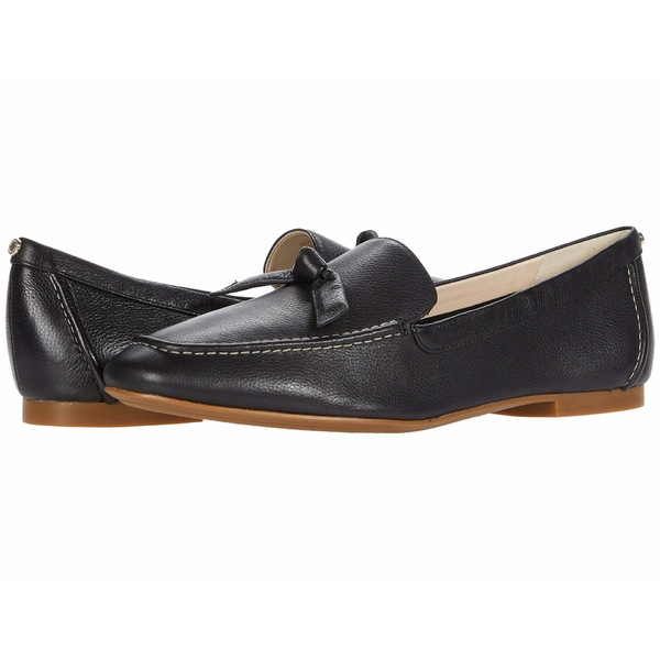 スリッポン・ローファー レディース Soft Black Stitch Loafer コールハーン Bow Caddie Grainy Leather/Knot Bow/Natural シューズ