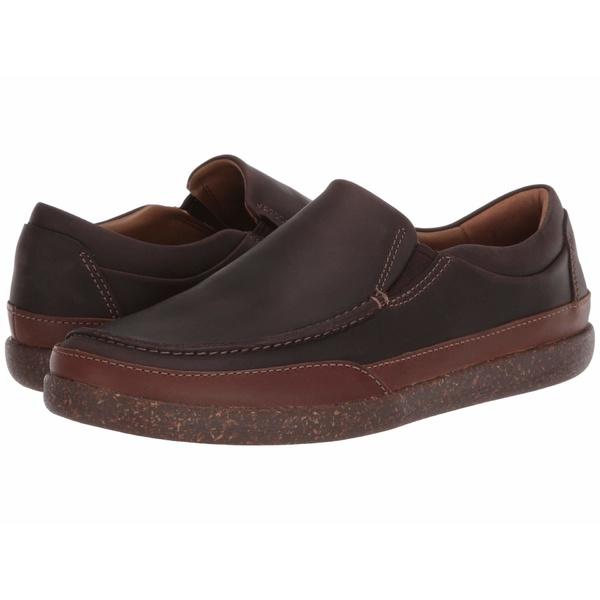 クラークス メンズ スリッポン・ローファー シューズ Un Lisbon Twin Brown Oily Leather