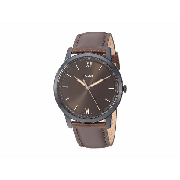 フォッシル メンズ 腕時計 アクセサリー Minimalist Three-Hand Watch FS5551 Black Brown Leather