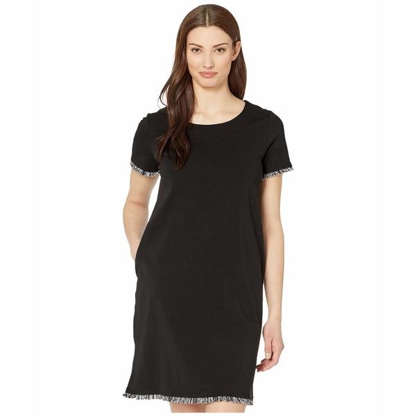 トリバル レディース ワンピース トップス T-Shirt Dress w/ Fringe Black