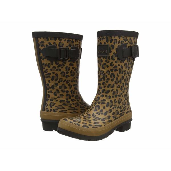 ジュールズ レディース ブーツ&レインブーツ シューズ Molly Welly Tan Leopard