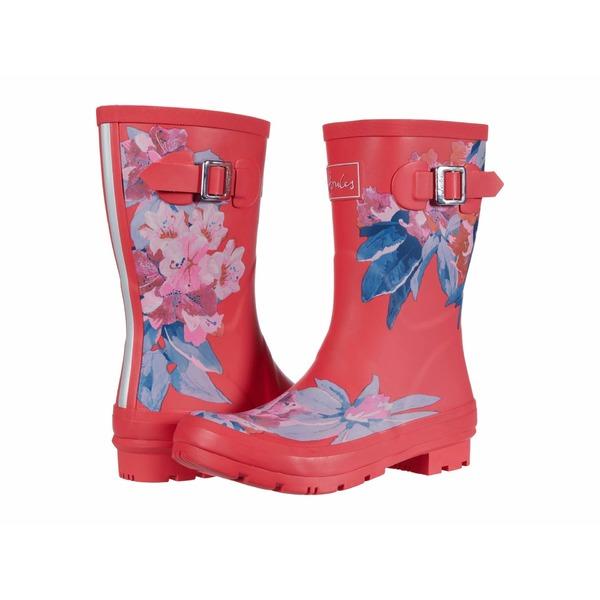 ジュールズ レディース ブーツ&レインブーツ シューズ Molly Welly Red Floral