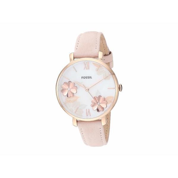 フォッシル レディース 腕時計 アクセサリー Jacqueline Three-Hand Leather Watch ES4671 Rose Gold Blush Leather