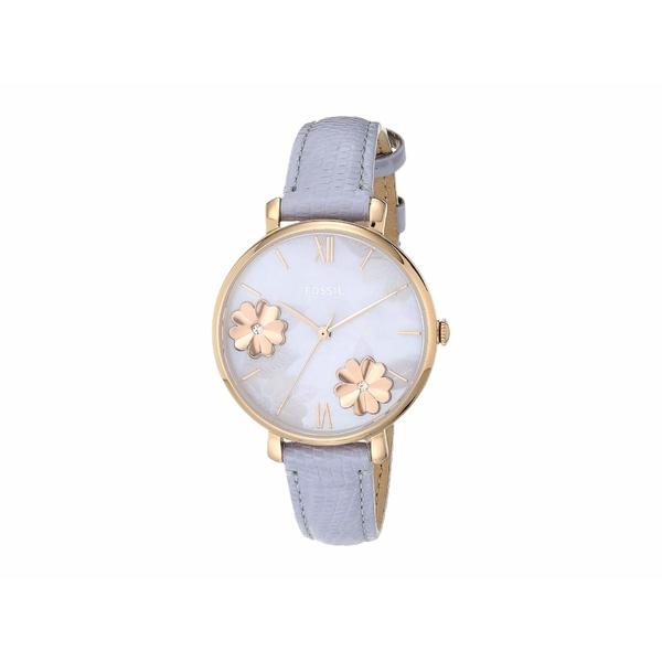 フォッシル レディース 腕時計 アクセサリー Jacqueline Three-Hand Leather Watch ES4814 Rose Gold Lavender Leather