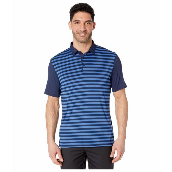 アディダス メンズ シャツ トップス Ultimate365 Wide Stripe Polo Shirt Collegiate Navy/Trace Royal