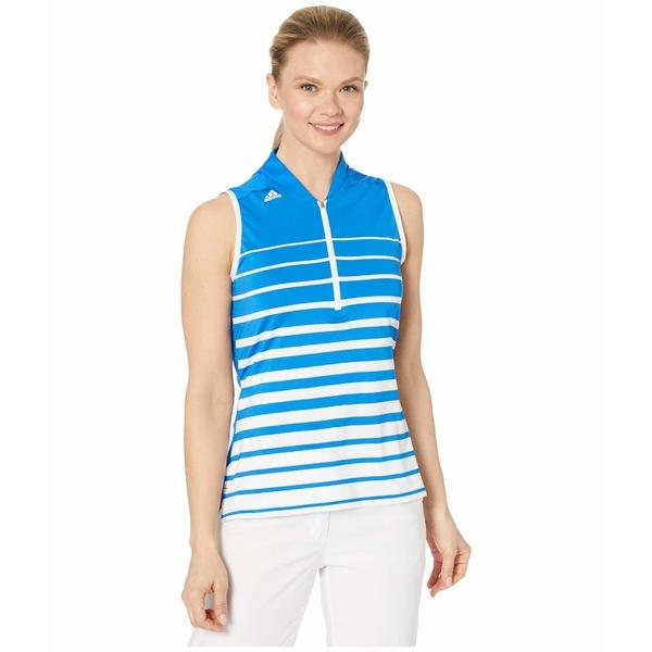 アディダス レディース シャツ トップス Engineered Stripe Polo Shirt Glory Blue