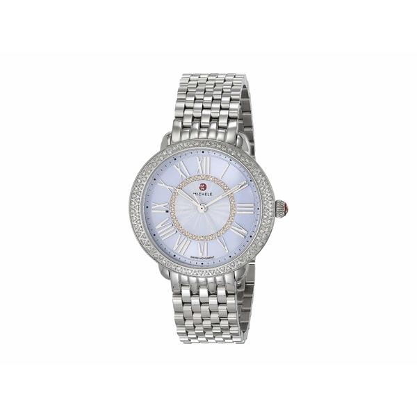ミッシェル レディース 腕時計 アクセサリー Serein Mid Bracelet Silver/Blue Sunray Dial/Diamond Bezel