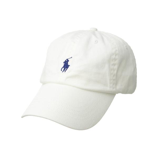 ラルフローレン メンズ 帽子 アクセサリー Classic Chino Cap White/Marlin Blue