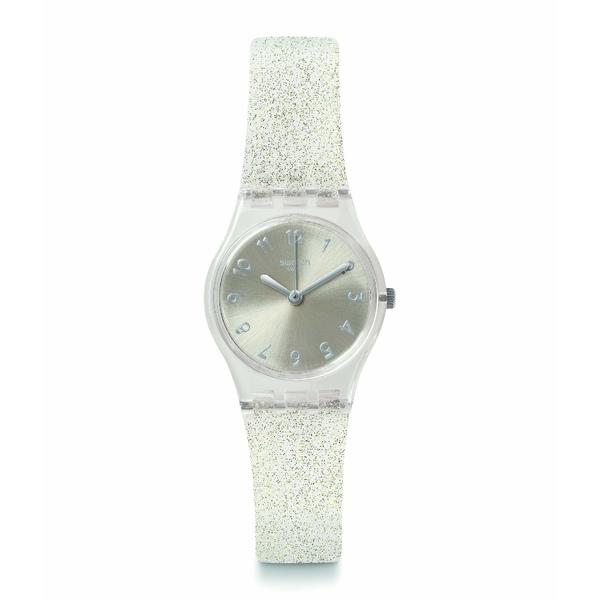 スワッチ レディース 腕時計 アクセサリー Silver Glistar Too - LK343E Transparent