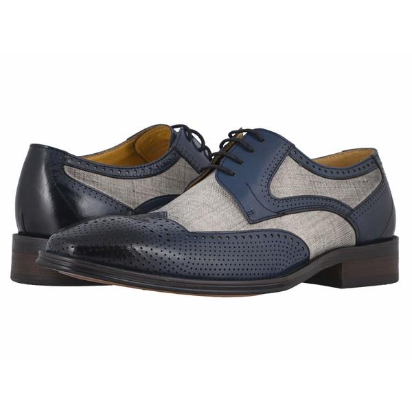 ステイシーアダムス メンズ ドレスシューズ シューズ Harrison Wing Tip Oxford Blue/Beige