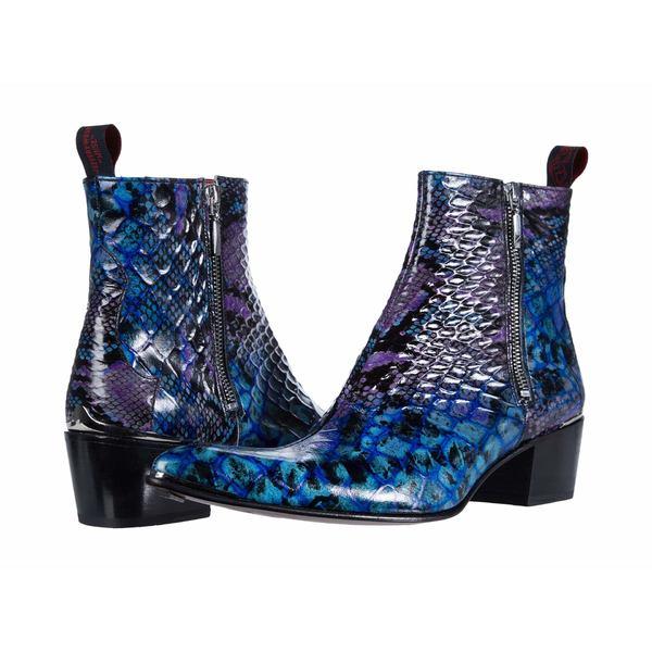 ジェフリーウェスト メンズ ブーツ&レインブーツ シューズ Double Metal Zip Boot Sylvian Blue