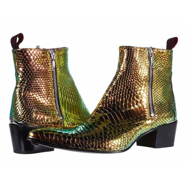 ジェフリーウェスト メンズ ブーツ&レインブーツ シューズ Double Metal Zip Boot Sylvian Petrol