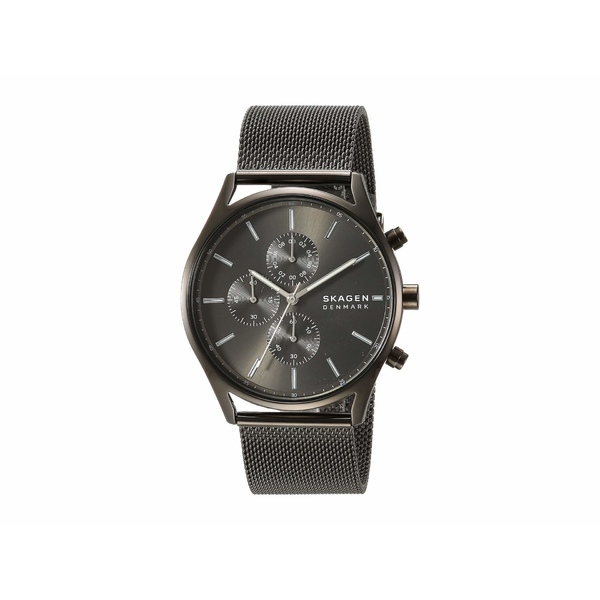 スカーゲン メンズ 腕時計 アクセサリー Holst Multi-Function Watch SKW6608 Gunmetal Stainless Steel Mesh