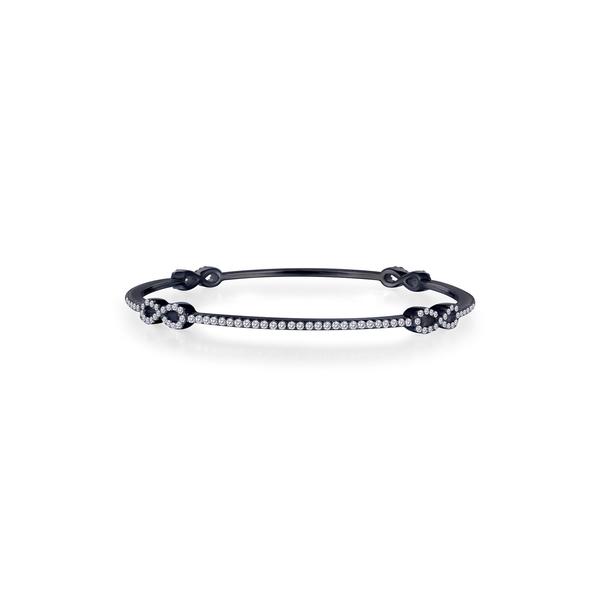 ラフォン 5%OFF レディース アクセサリー ブレスレット バングル アンクレット WHITE 全商品無料サイズ交換 Rhodium Infinity Bracelet ファクトリーアウトレット Bangle Plated Thin Diamonds Stackable with Simulated