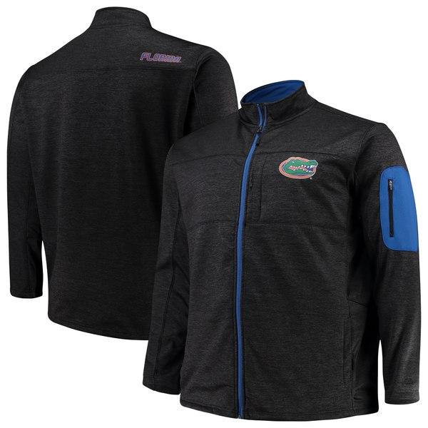 コロシアム メンズ ジャケット&ブルゾン アウター Florida Gators Colosseum Big & Tall Glacier FullZip Jacket Heathered Black