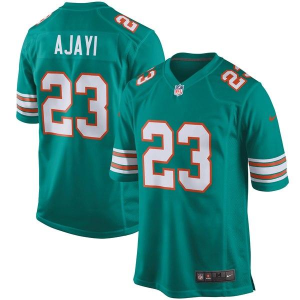 ナイキ メンズ ユニフォーム トップス Jay Ajayi Miami Dolphins Nike Throwback Game Jersey Aqua