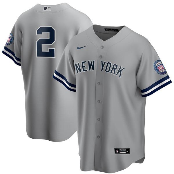 ナイキ メンズ ユニフォーム トップス Derek Jeter New York Yankees Nike 2020 Hall of Fame Induction Replica Jersey Gray