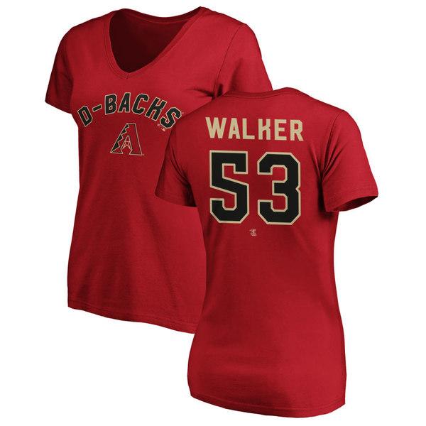 ファナティクス レディース Tシャツ トップス Arizona Diamondbacks Fanatics Branded Women's Personalized Winning Streak Name & Number Slim Fit VNeck TShirt Red