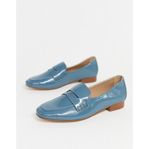 エイソス レディース スニーカー シューズ ASOS DESIGN Membership loafer flat shoes in blue Cornflower blue