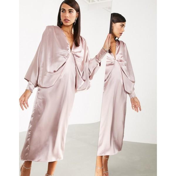 エイソス レディース ワンピース トップス ASOS EDITION extreme kimono sleeve midi dress Rose