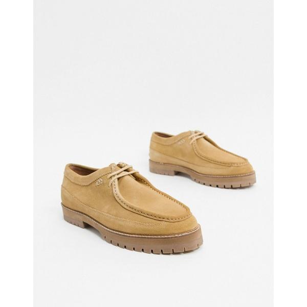 ハウスオブハウンデッド メンズ スニーカー シューズ House of Hounds comet lace up shoes in beige suede Beige