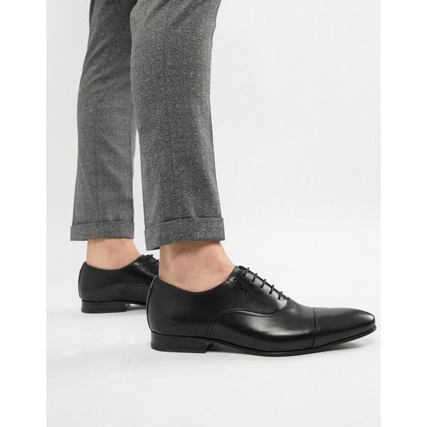 テッドベーカー メンズ スニーカー シューズ Ted Baker Murain oxford shoes in black leather Black