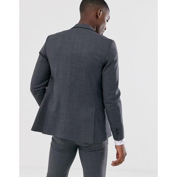 ジャック アンド ジョーンズ メンズ ジャケット&ブルゾン アウター Jack & Jones Premium super slim fit stretch suit jacket in gray Dark gray