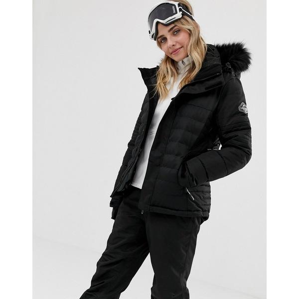 サーファニック レディース ジャケット&ブルゾン アウター Surfanic Poppy Ski Jacket Black