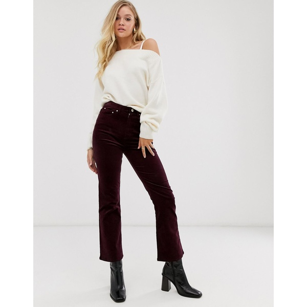 アンドアザーストーリーズ レディース カジュアルパンツ ボトムス & Other Stories straight leg cord pants in burgundy Burgundy