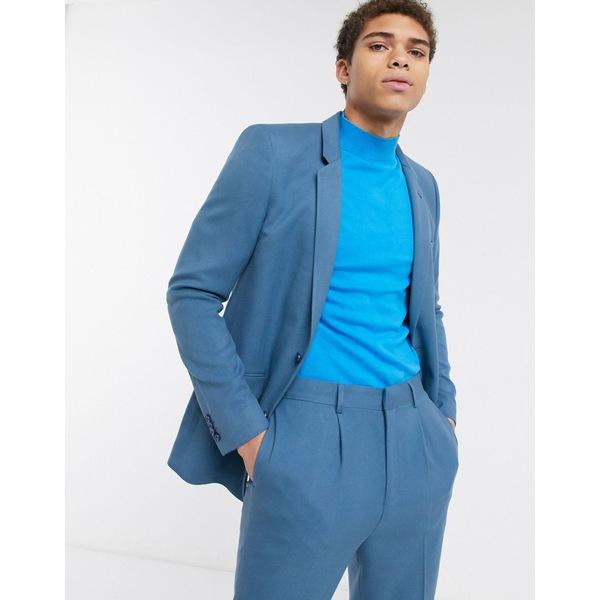 エイソス メンズ ジャケット&ブルゾン アウター ASOS DESIGN skinny suit jacket in soft teal Teal