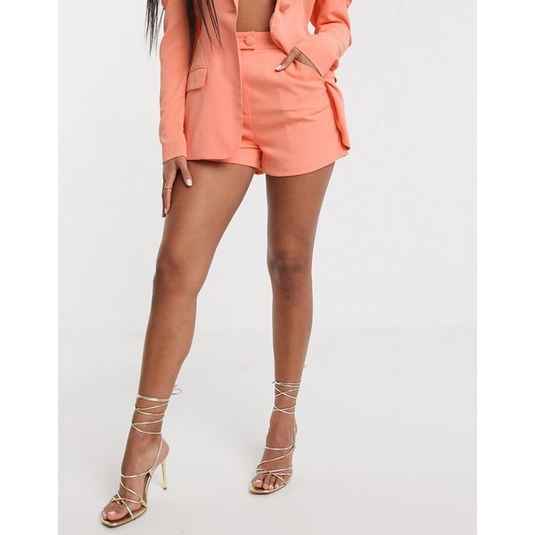 ラビッシュアリス レディース カジュアルパンツ ボトムス Lavish Alice taliored shorts in orange Cantaloupe