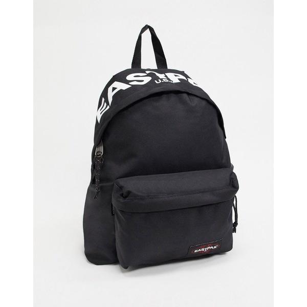イーストパック メンズ バックパック・リュックサック バッグ Eastpak Padded Pak'R backpack with bold logo in black 24l Black