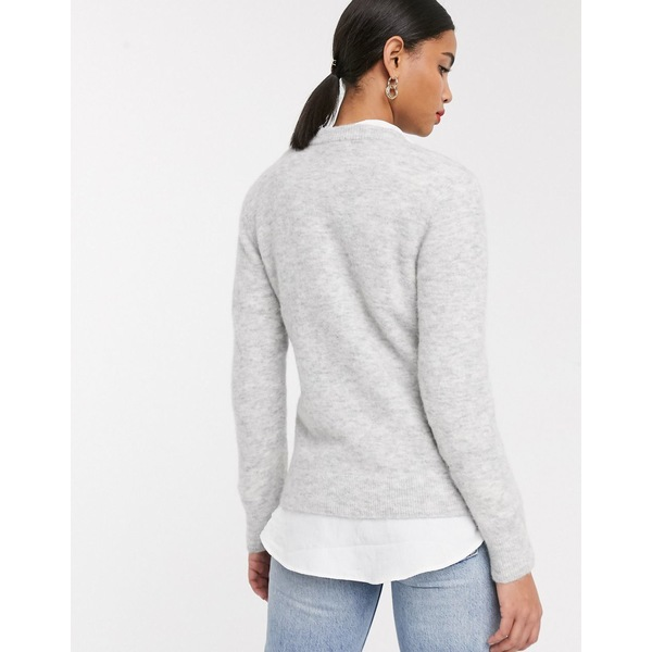 アンドアザーストーリーズ レディース ニット&セーター アウター & Other Stories fluffy round neck sweater in gray marl Gray melange
