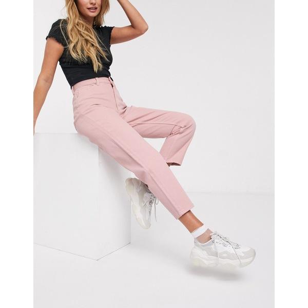 モンキ レディース デニムパンツ ボトムス Monki Taiki high waist mom jeans with organic cotton in pink Pink