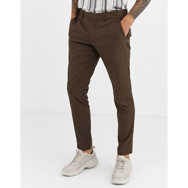 エスプリ メンズ カジュアルパンツ ボトムス Esprit slim fit suit pants in tan Tan