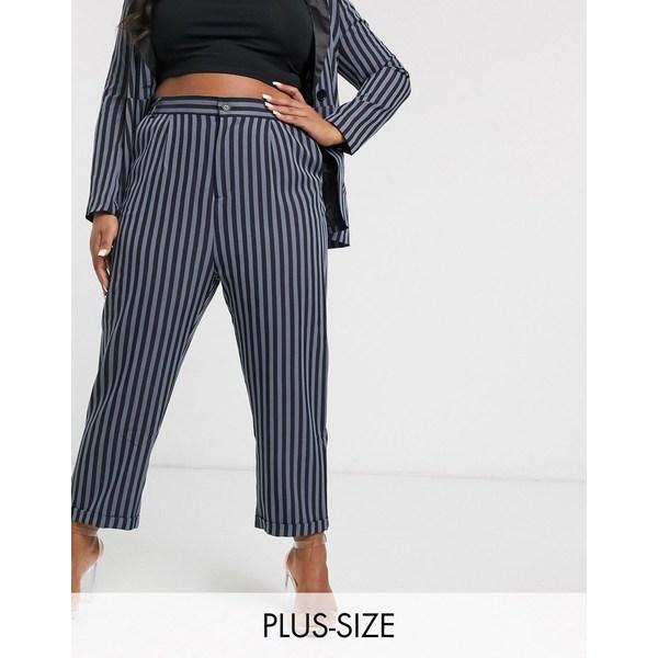ユニーク21ヒーロー レディース カジュアルパンツ ボトムス Unique 21 tailored pants in stripe Stripe
